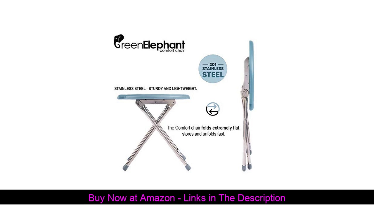 ☑️ Green Elephant Folding Commode Portable Toilet Seat - Porta Potty and Commode Chair - Comfort Ch