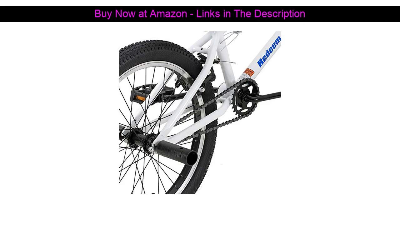 ✅ Hiland 20 Inch Kids Bike for Boys BMX Freestyle Bicycle White Blue