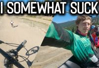 I still SUCK but I'm getting BETTER// Jump Progression at Whistler Bike Park