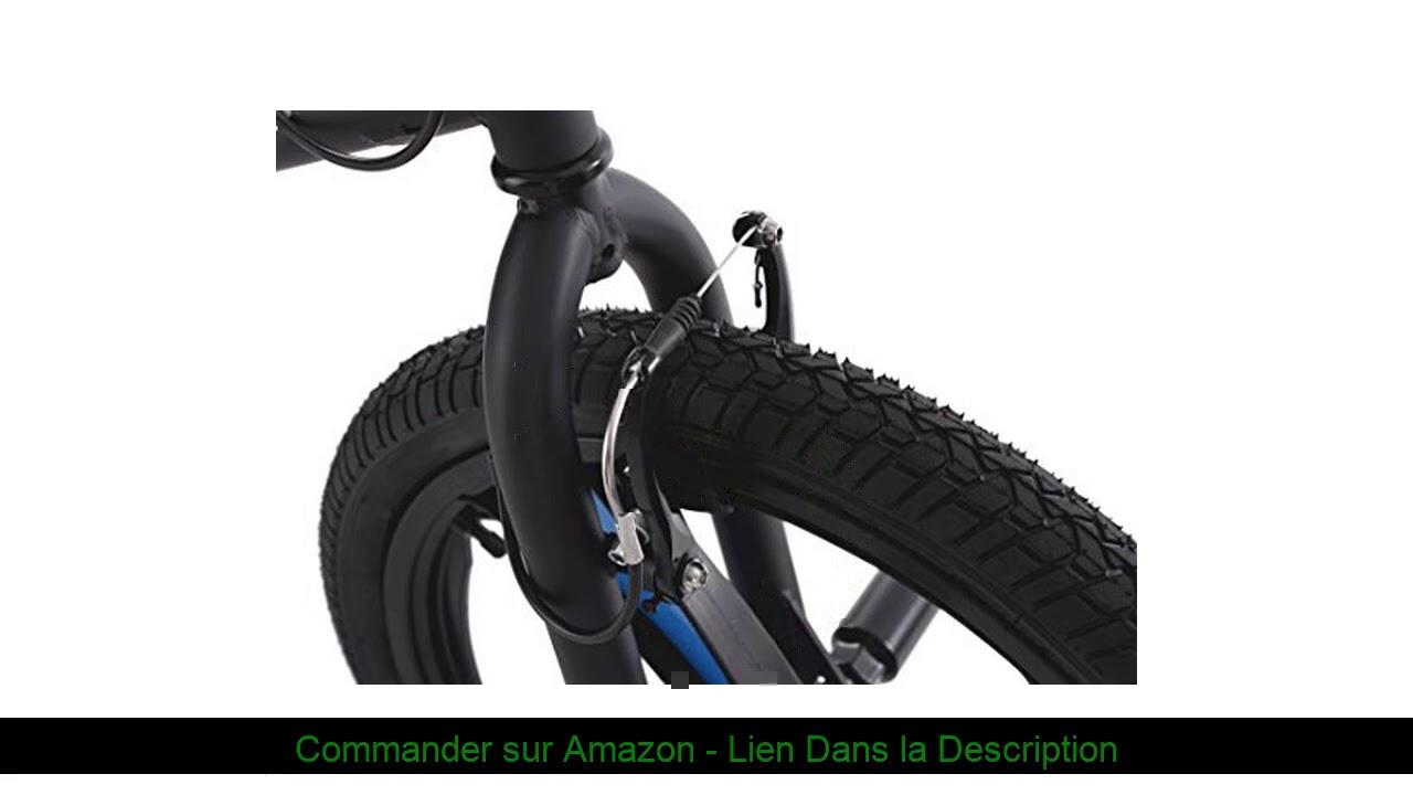 ❎ KS Cycling 663B BMX Freestyle Mixte Enfant, Noir, 20