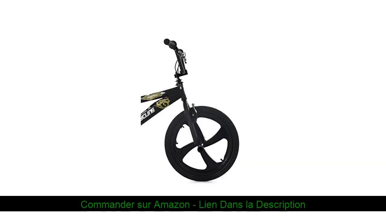 "☀️ KS Cycling Daemon BMX Freestyle Noir 20"""