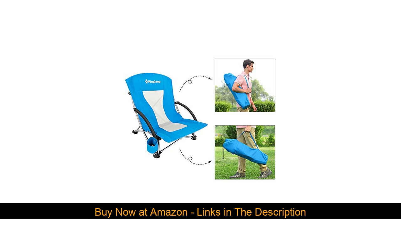 ✨ KingCamp Camping Chair, Lightweight Multi-Color Folding Beach Chair for Garden Lawn Picnic Concer