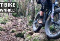 La Mamba Negra! Fat Bike Eléctrica Mid Drive Haciendo Barro en el Downhill!