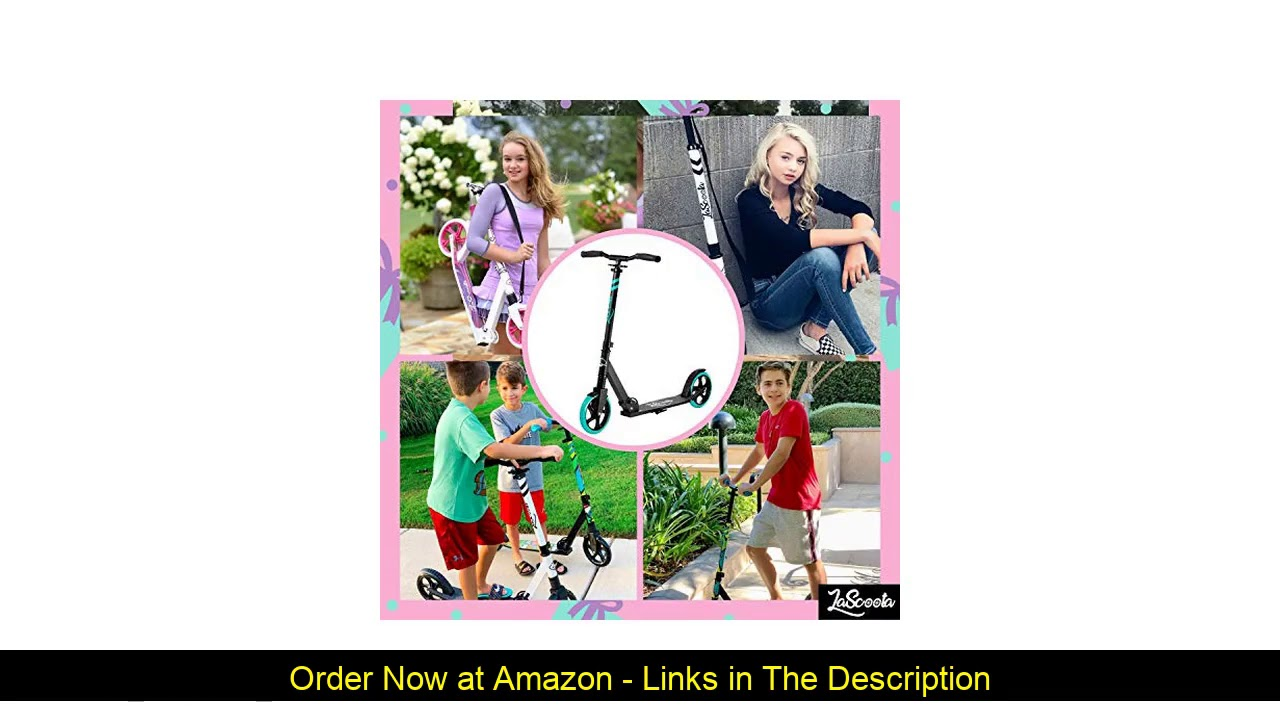 ❎ Lascoota Scooters for Kids 8 Years and up - Quick-Release Folding System - Dual Suspension System