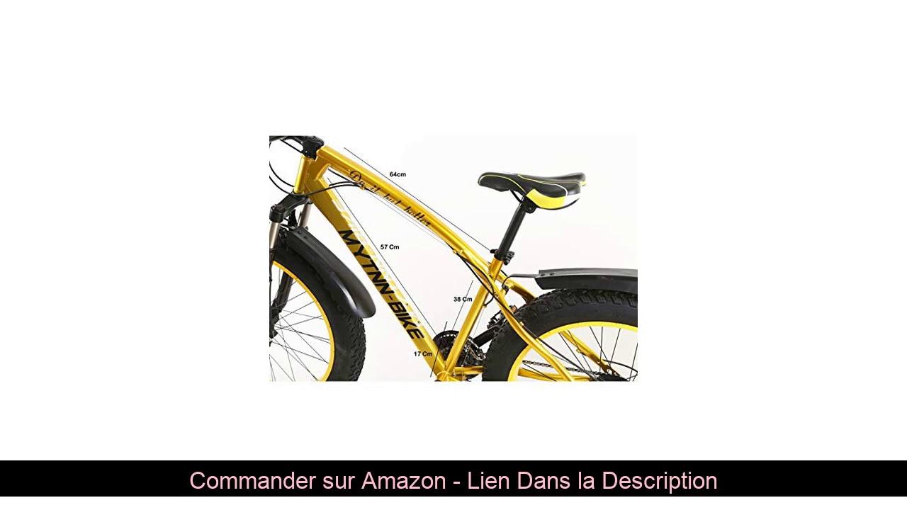"☘️ MYTNN Fatbike VTT 26"" 21 vitesses Shimano gros pneus Mountainbike Gold 47 cm RH Snow Bike"