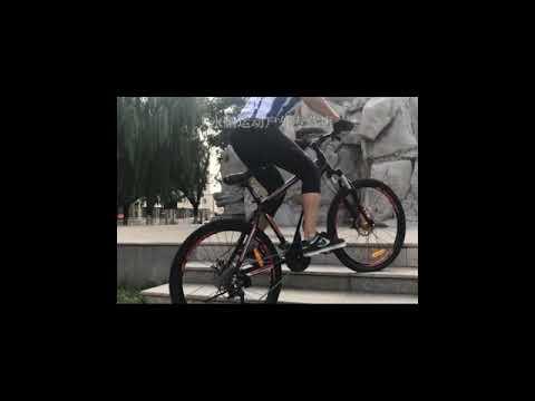 Mountain bike adult female student 26 inch 27 speed change aluminum alloy dual disc brake one wheel