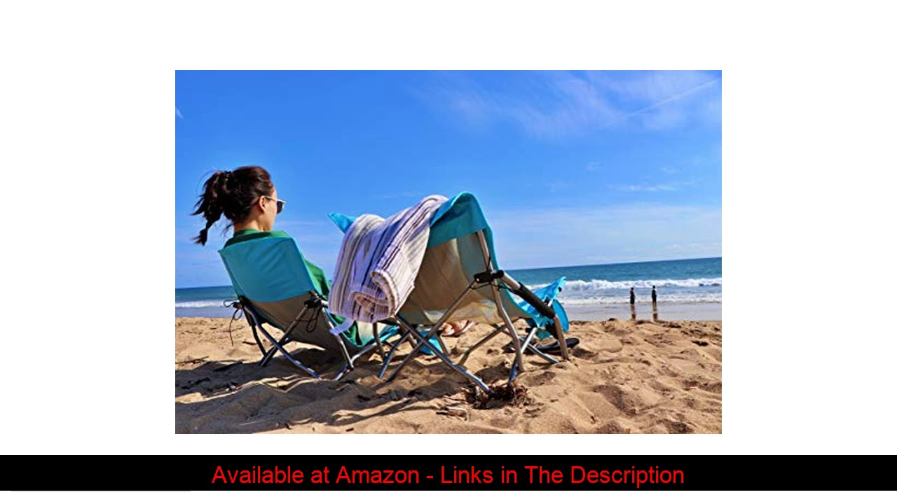 ✨ Nice C Low Beach Camping Folding Chair, Ultralight Backpacking Chair with Cup Holder & Carry Bag