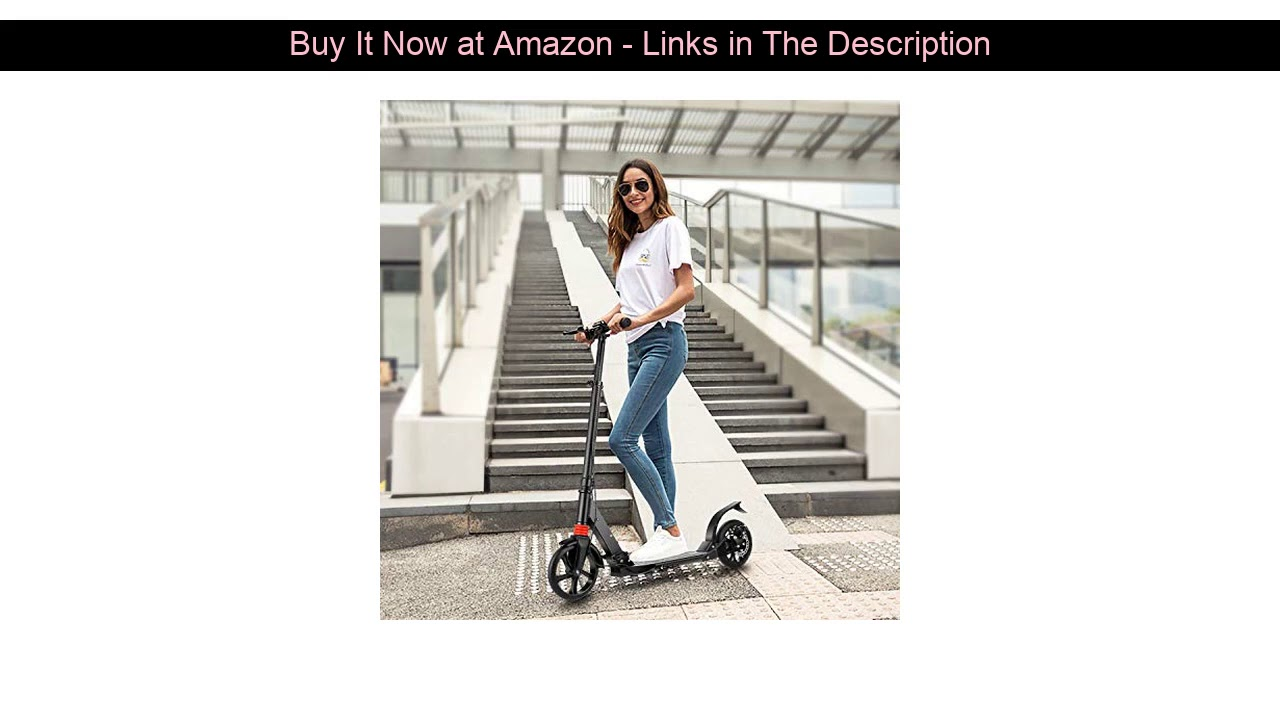 ▶️ OUTCAMER Scooter for Adults Big Wheel Scooter Folding Design Kick Scooter with Adjustable Height