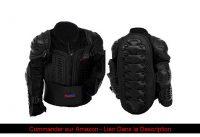 ⭐️ Protectwear Veste de protection pour enfants, pour Motocross, BMX, Ski et Snowboard, noir, PJK,
