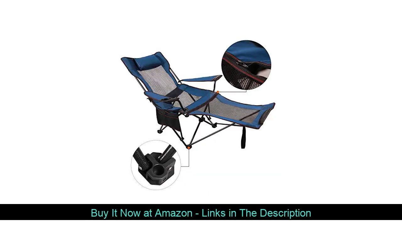▶️ REDCAMP Camping Chair with Foot Rest, Heavy Duty Folding Camp Chairs for Adults 250 lbs, Lightwe
