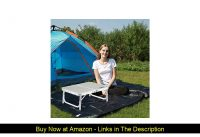 ✅ REDCAMP Small Folding Camping Table Portable Adjustable Height Lightweight Aluminum Folding Table