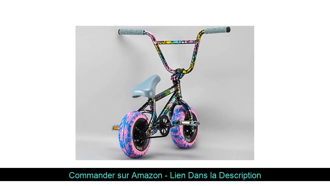 ☄️ ROCKER 3+ Freecoaster Crazy Main Splatter Mini BMX Bike