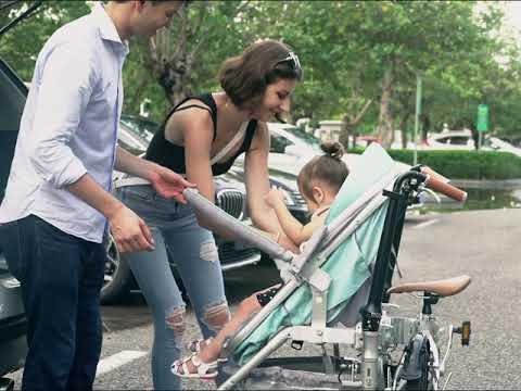 Recreational Parent child Folding Bicycle Cruiser bike Pedicab for Mother & Baby, Parent child Bike,