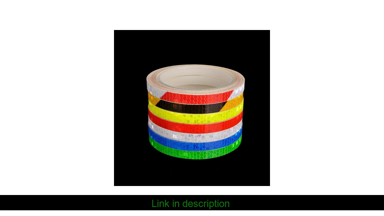 Reflective Tape Fluorescent MTB Bike Bicycle Cycling MTB Reflective Stickers Adhesive Tape Bike Sti