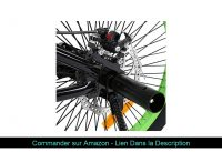 "▶️ Ridgeyard Vélo BMX Freestyle 20"" Rotor System 360°4 chevilles BMX Bike (Noir + Vert)"