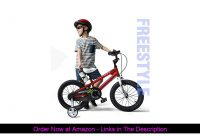 ✨ RoyalBaby Boys Girls Kids Bike 14 Inch BMX Freestyle 2 Hand Brakes Bicycles with Training Wheels
