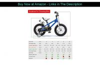 ☄️ RoyalBaby Kids Bike Boys Girls Freestyle BMX Bicycle with Training Wheels Gifts for Children Bik