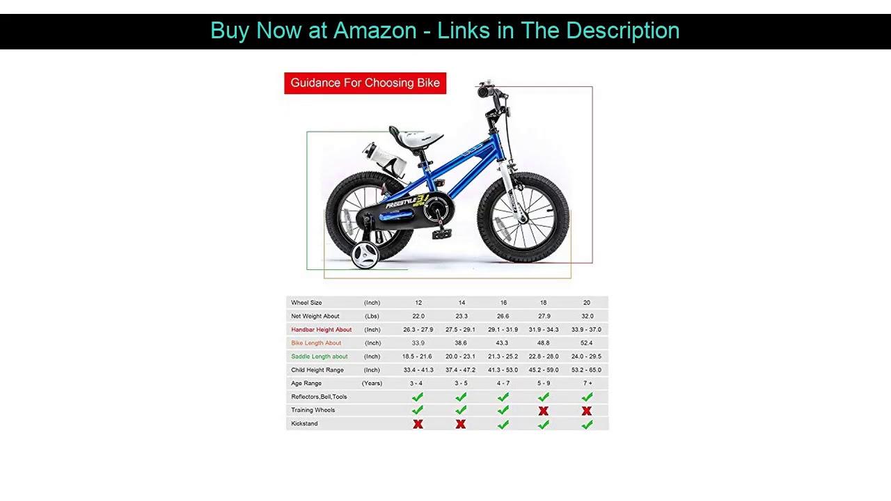 ☄️ RoyalBaby Kids Bike Boys Girls Freestyle BMX Bicycle with Training Wheels Gifts for Children Bik