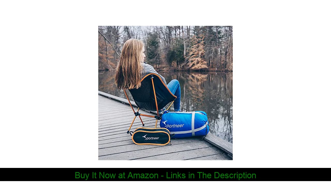 ☄️ Sportneer Portable Lightweight Folding Camping Chair, 2-Pack for Backpacking, Hiking, Picnic