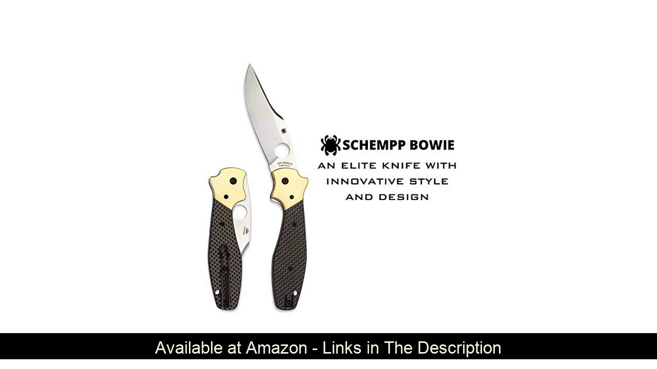 "❄️ Spyderco Schempp Bowie Ethnic Series Folding Knife with 3.72"" CPM S30V Stainless Steel Blade and"