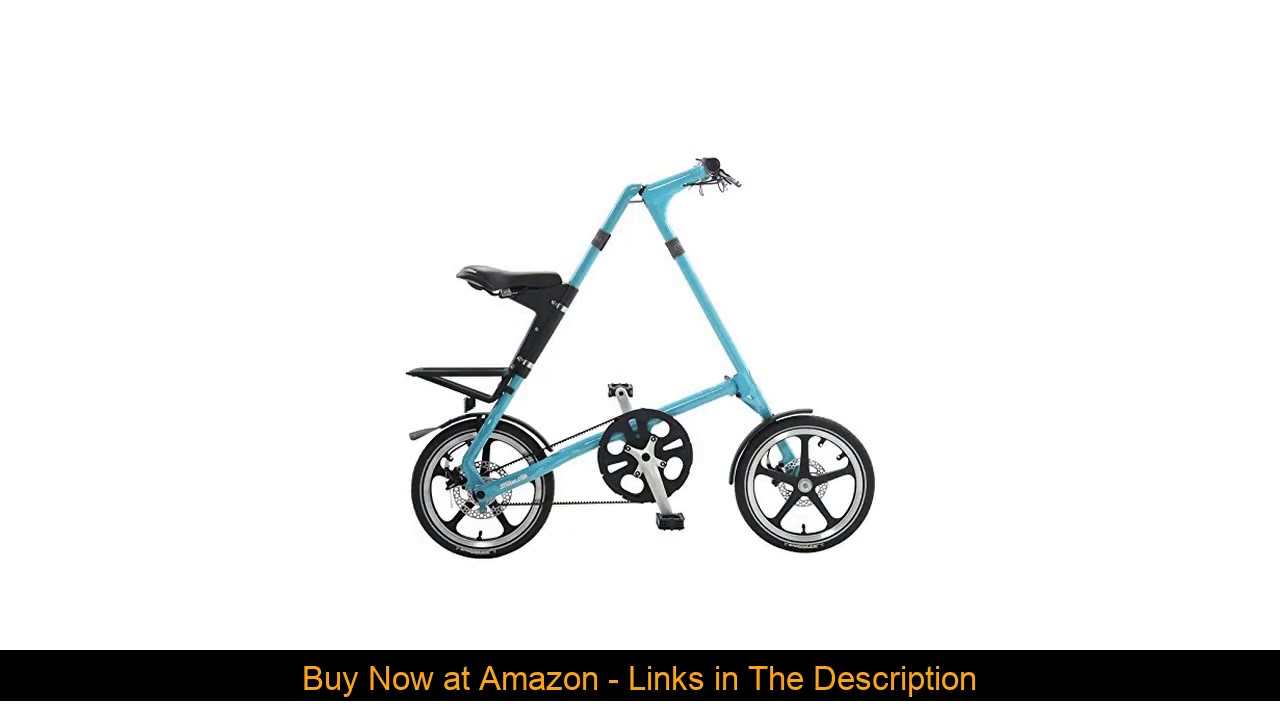 "☀️ Strida LT Folding Bicycle, folds to 45x20x9"", Turquoise"