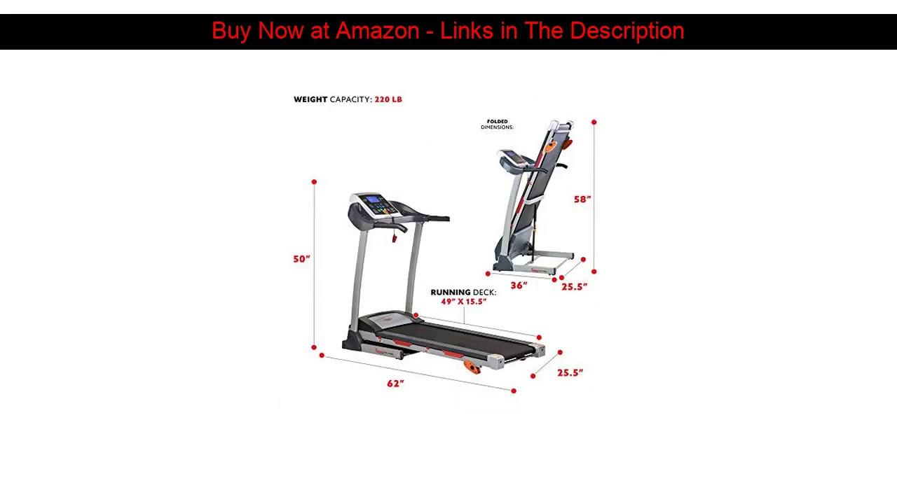 ☀️ Sunny Health & Fitness Treadmill Folding Motorized Running Machine