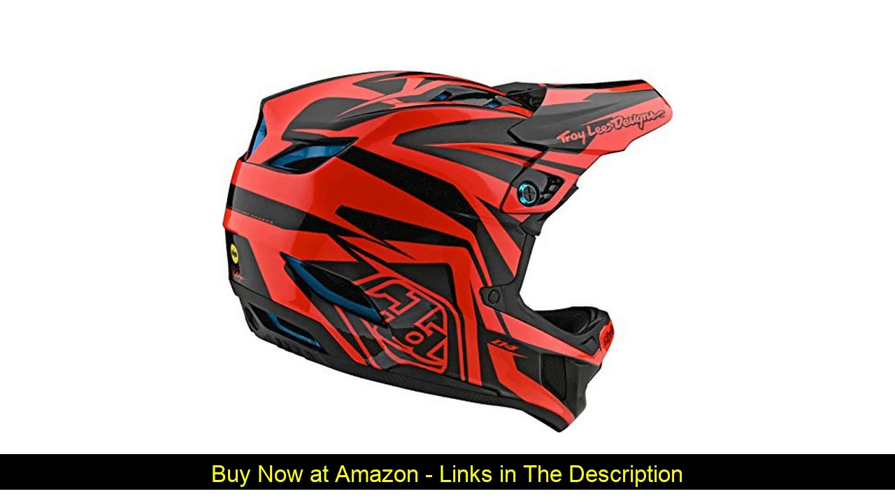 ✨ Troy Lee Designs Adult | BMX | Downhill | Mountain Bike | Full Face D4 Composite MIPS Slash Helme