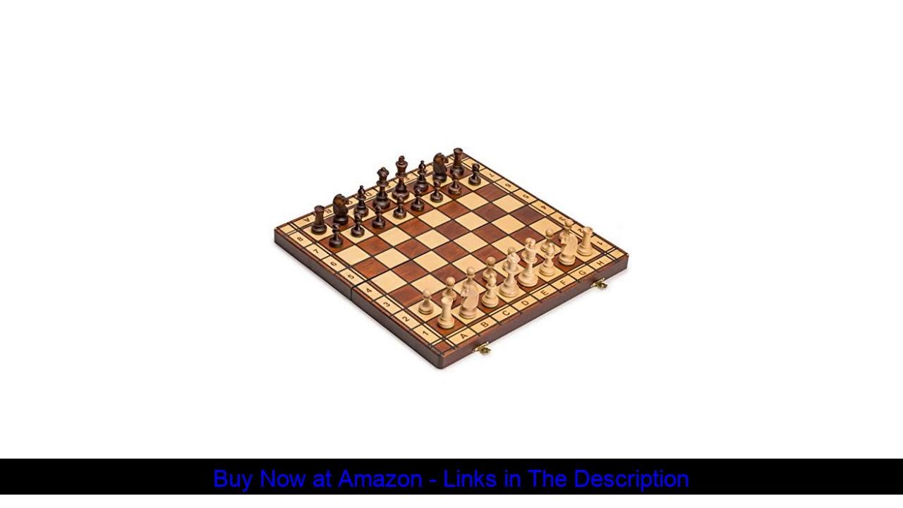 ❄️ Wegiel Handmade Jowisz Professional Tournament Chess Set - Wooden 16 Inch Folding Board With Fel