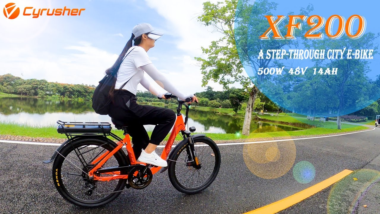 XF200 A Step Through City Electric Bike | Cyrusher Sports