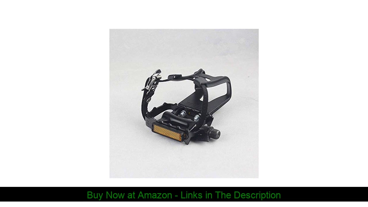 ❄️ YBEKI Bike Pedals with Clips and Straps, for Exercise Bike, Spin Bike and Outdoor Bicycles, 9/16