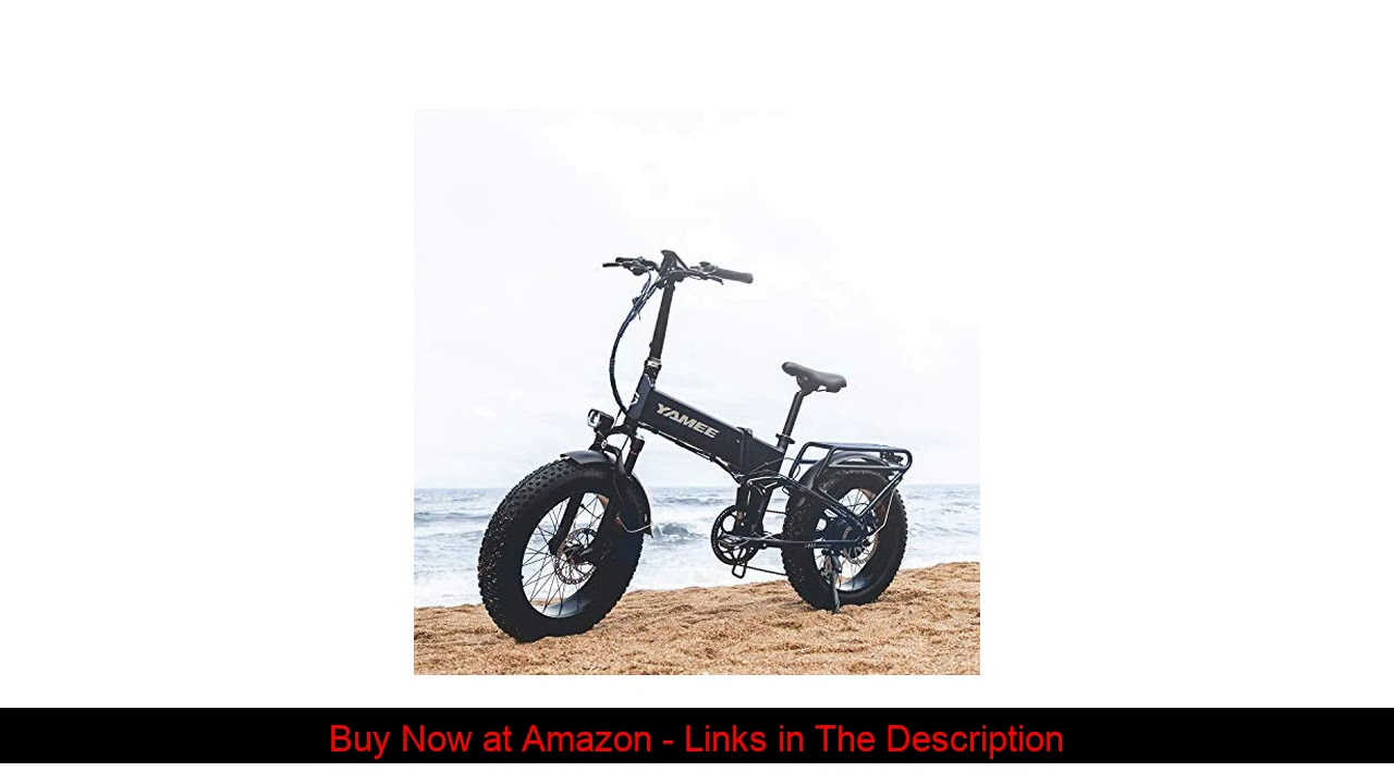 ☄️ Yamee 750W Ebike 20'' Snow Tire Electric Bicycle Folding 48V 14.5AH Samsung Lithium Battery Adul