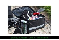 ☑️ traderplus Bicycle Basket Handlebar Bag with Sliver Grey Reflective Stripe for Mountain Bike Out