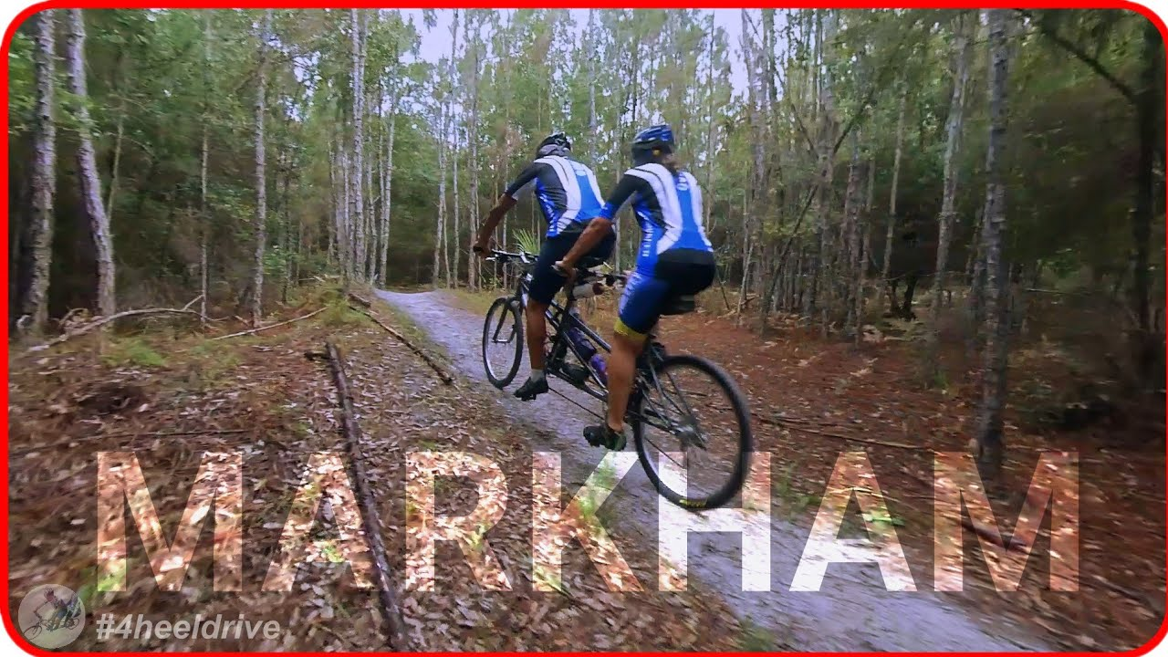 Tandem Mountain Biking: Riding a Tandem Bike at Central Florida's Markham Woods Mountain Bike Trail