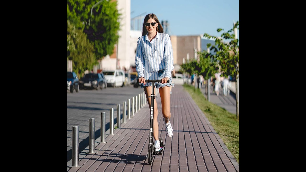 Top awesome gadget .NKEEO Kick Scooters , Folding Commuter Scooter for Teens, Adult (Black)