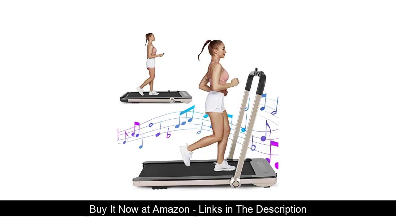☑️ beachey Folding Treadmills, 2in1 Under Desk Treadmill for Home Office Gym Small Spaces Jogging R