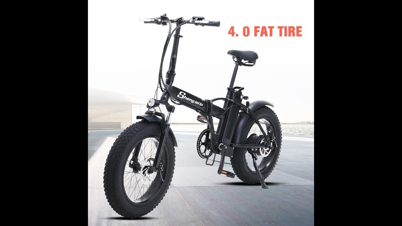 electric bike Shengmilo 20 inch ebike electric bicycle snowmobile 48V500W electric folding bike 4 0