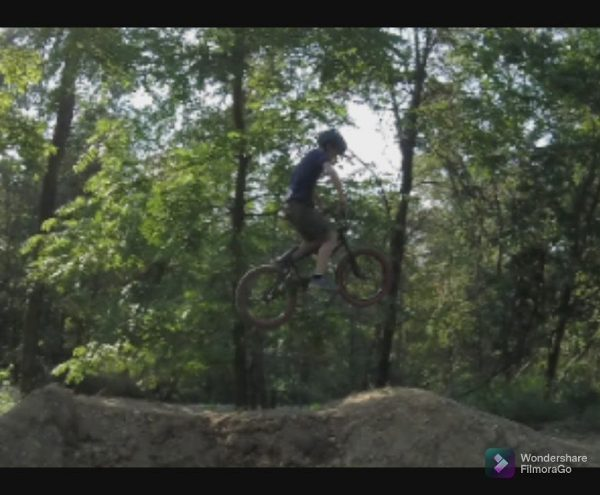 Riding my BMX jumps! (For the first time in a while)
